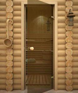 Стеклянные двери для сауны