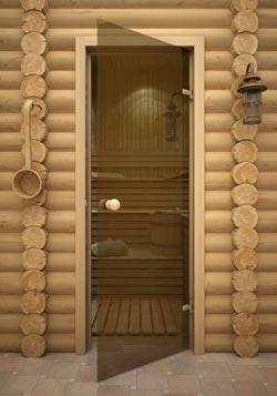 Стеклянные двери для сауны и бани - фото. Киров